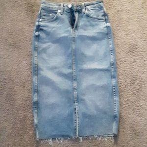 Strech jean skirt,